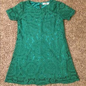 Green lace tunic